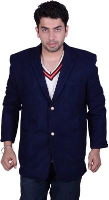 SST Solid Single Breasted Formal Men's Blazer
