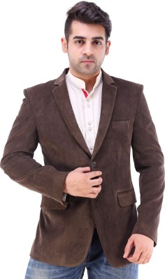 Maveric Self Design Single Breasted Party Men's Blazer
