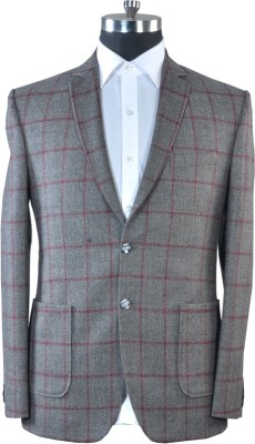 Fabrich Checkered Single Breasted Casual Men's Blazer