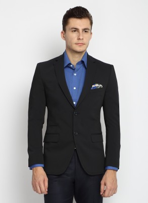 Suit Ltd Solid Single Breasted Formal Men's Blazer