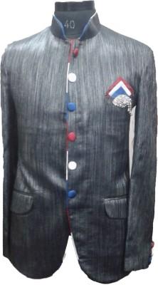 blue stag Self Design Single Breasted Formal Men's Blazer