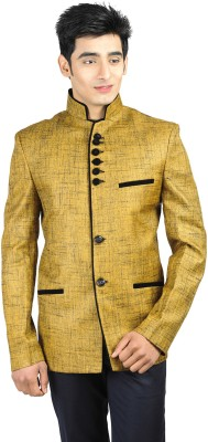 Wintage Solid Single Breasted Festive Men,s Blazer