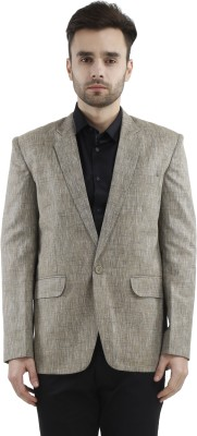 Gazi Solid Single Breasted Lounge Wear Men's Blazer