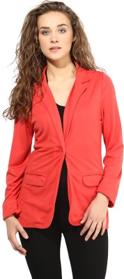 The Gud Look Solid Single Breasted Formal Women's Blazer