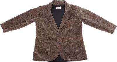 Fbbic Self Design Single Breasted Casual Boy's Blazer