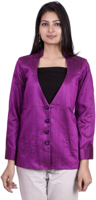 Pamposh Creations Solid Single Breasted Casual Women's Blazer