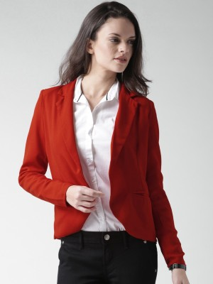 Mast & Harbour Solid Single Breasted Casual Women's Blazer