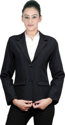 NGT Solid Double Breasted Formal Women's Blazer