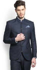 Blackberrys Self Design Single Breasted Casual Men's Blazer