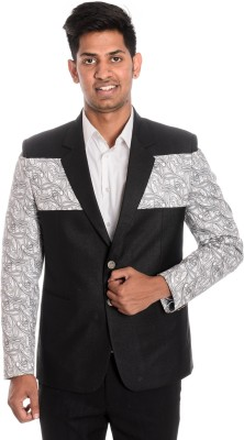 Idlindia Solid, Printed Single Breasted Lounge Wear, Party Men's Blazer