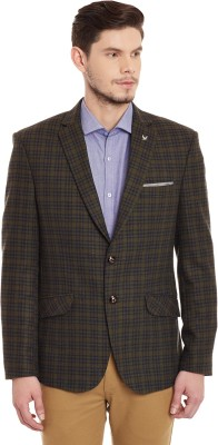 Canary London Checkered Single Breasted Casual, Party, Formal, Wedding Men's Blazer