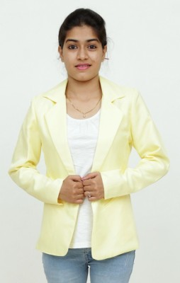 Loto Solid Single Breasted Casual, Party, Formal, Festive Women's Blazer