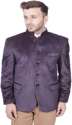 Lee Marc Printed Single Breasted Party Men's Blazer