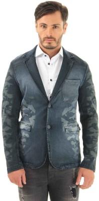 Jack & Jones Solid Double Breasted Casual Men's Blazer