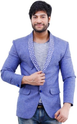 Lamode Solid Single Breasted Casual Men's Blazer