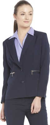 Globus Solid Single Breasted Formal Women's Blazer