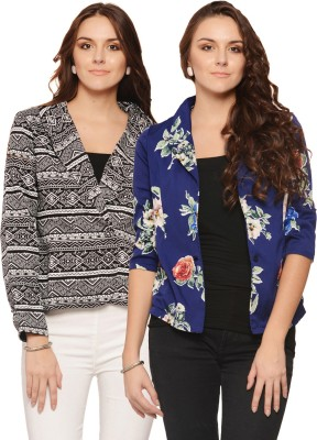 Albely Printed Single Breasted Casual Women's Blazer