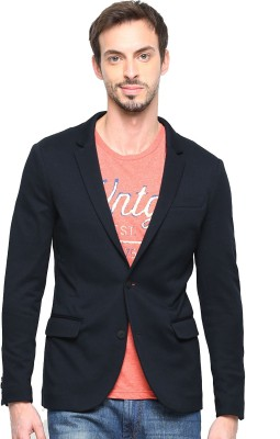 Protext Premium Solid Single Breasted Formal, Casual Men's Blazer