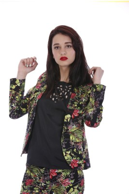 All About Eve Floral Print Single Breasted Party Women's Blazer