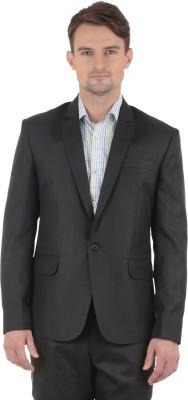 Azio Design Solid Single Breasted Formal Men's Blazer