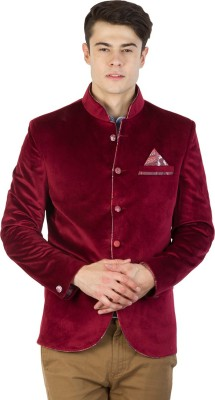 Burdy Solid Single Breasted Party Men's Blazer