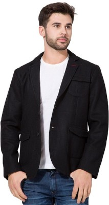 Menjestic Solid Single Breasted Casual Men's Blazer