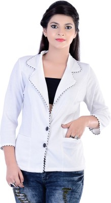 Divaz Fashion Solid Single Breasted Casual, Party Women's Blazer