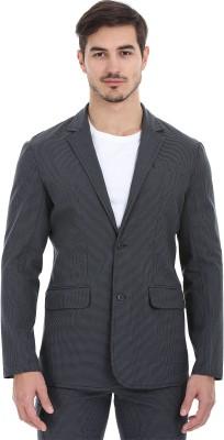Zobello Checkered Tuxedo Style Casual Men's Blazer