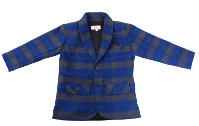 Fbbic Checkered Single Breasted Casual Boy's Blazer