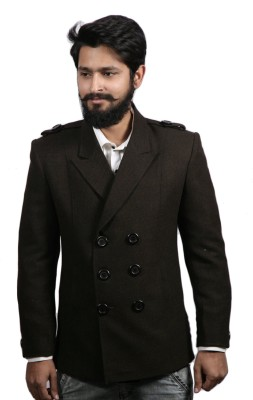 Fadjuice Solid Double Breasted Casual Men's Blazer