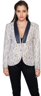 SOIE Floral Print Single Breasted Casual Women's Blazer