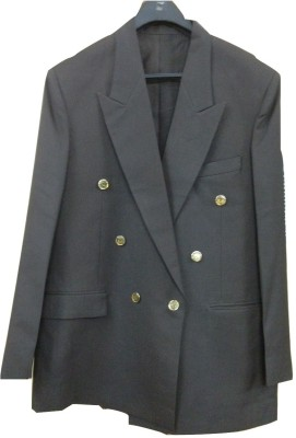 Rajindras Solid Double Breasted Formal, Party Men's Blazer
