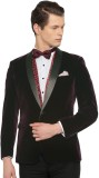 Invictus Solid Single Breasted Formal Me...