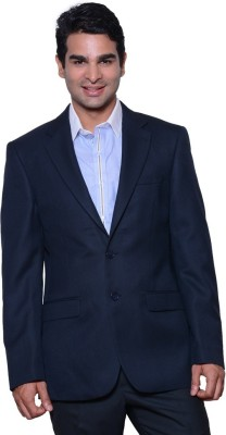 V-Mens Solid Single Breasted Formal, Party Men's Blazer