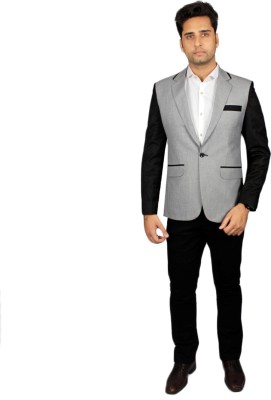 Beetle Solid Single Breasted Party Men's Blazer