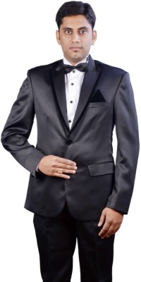 Menjestic Solid Single Breasted Party Men's Blazer