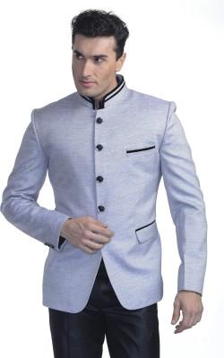 Luxurazi Solid Mandarin Festive Men's Blazer