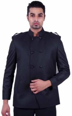 Dresscode Solid Tuxedo Style Wedding, Casual, Party Men's Blazer