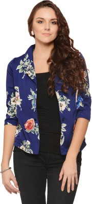 Albely Floral Print Single Breasted Casual Women's Blazer