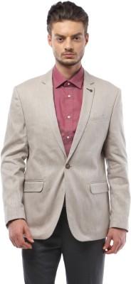 Van Heusen Solid Single Breasted Formal Men's Blazer