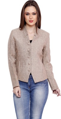Goguava Solid Single Breasted Wedding, Casual, Party, Festive Women's Blazer