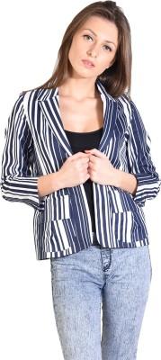 Oshea Striped Single Breasted Casual Women's Blazer