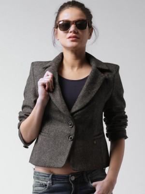 Mast & Harbour Woven Single Breasted Casual Women's Blazer