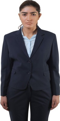 Lee Marc Solid Single Breasted Formal Women's Blazer