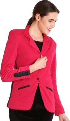 SOIE Solid Tuxedo Style Formal Women's Blazer