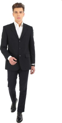 FashionHaven Solid Single Breasted Formal Men's Blazer