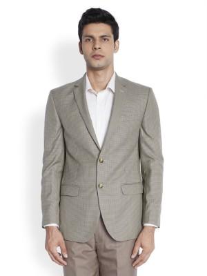 Park Avenue Striped Single Breasted Formal Men's Blazer