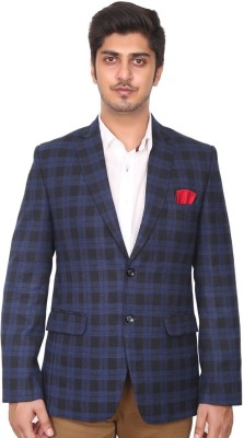 Men In Class Checkered Single Breasted Party Men's Blazer