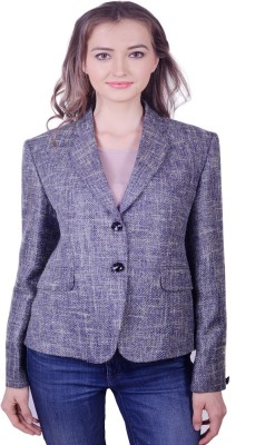 Lee Marc Solid Single Breasted Casual Women's Blazer