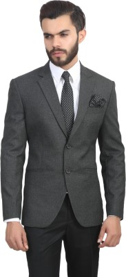 ManQ Solid Single Breasted Formal, Party Men's Blazer
